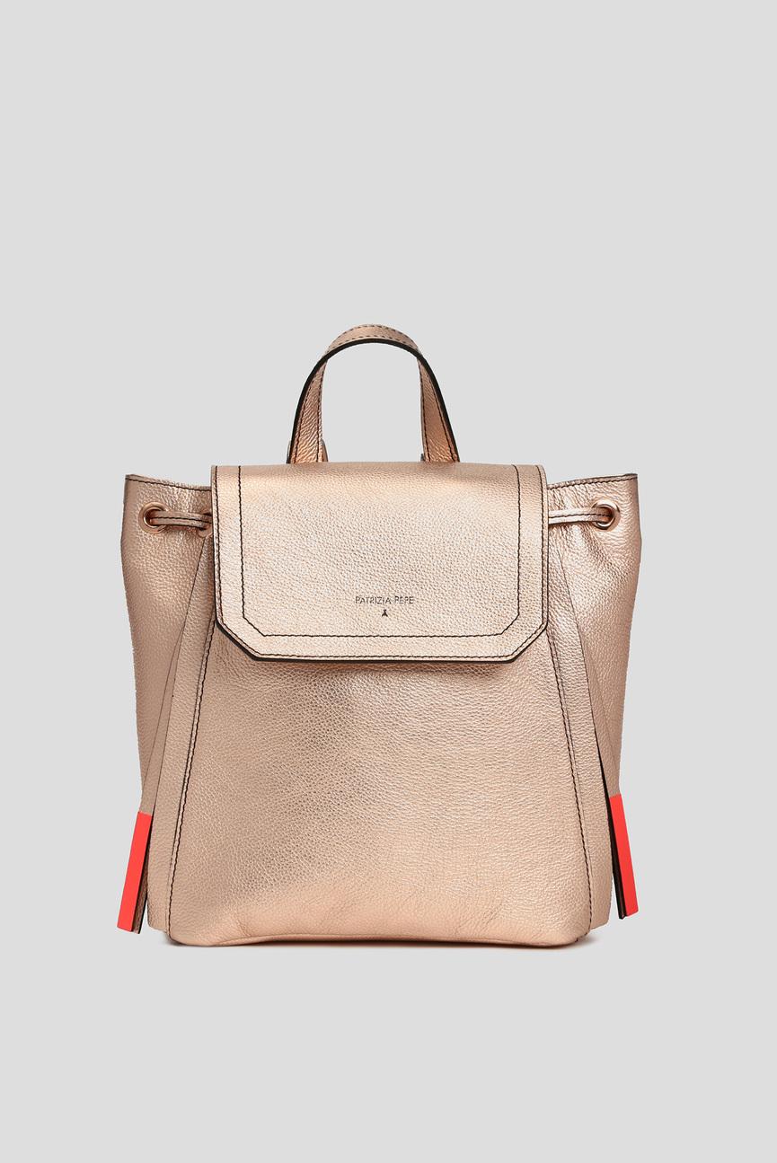 Женский бронзовый кожаный рюкзак