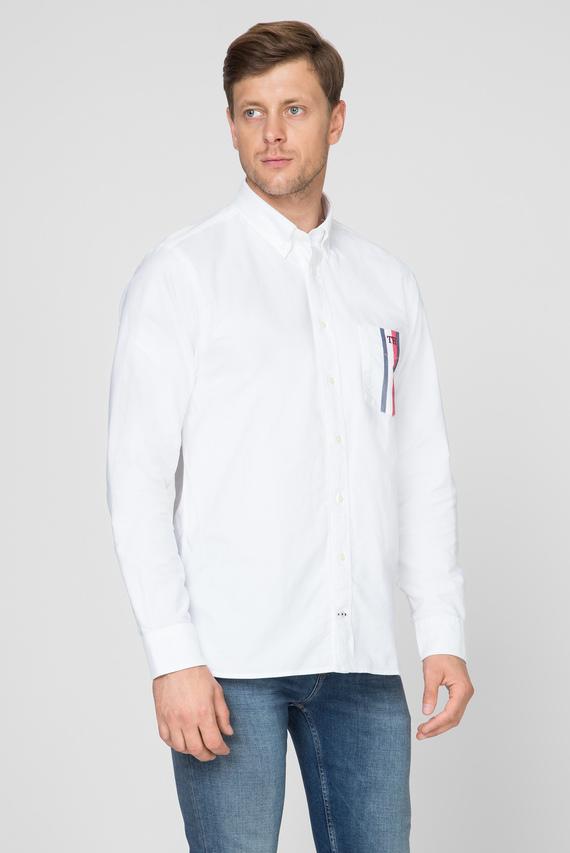 Мужская белая рубашка GLOBAL STRIPE POCKET SHIRT