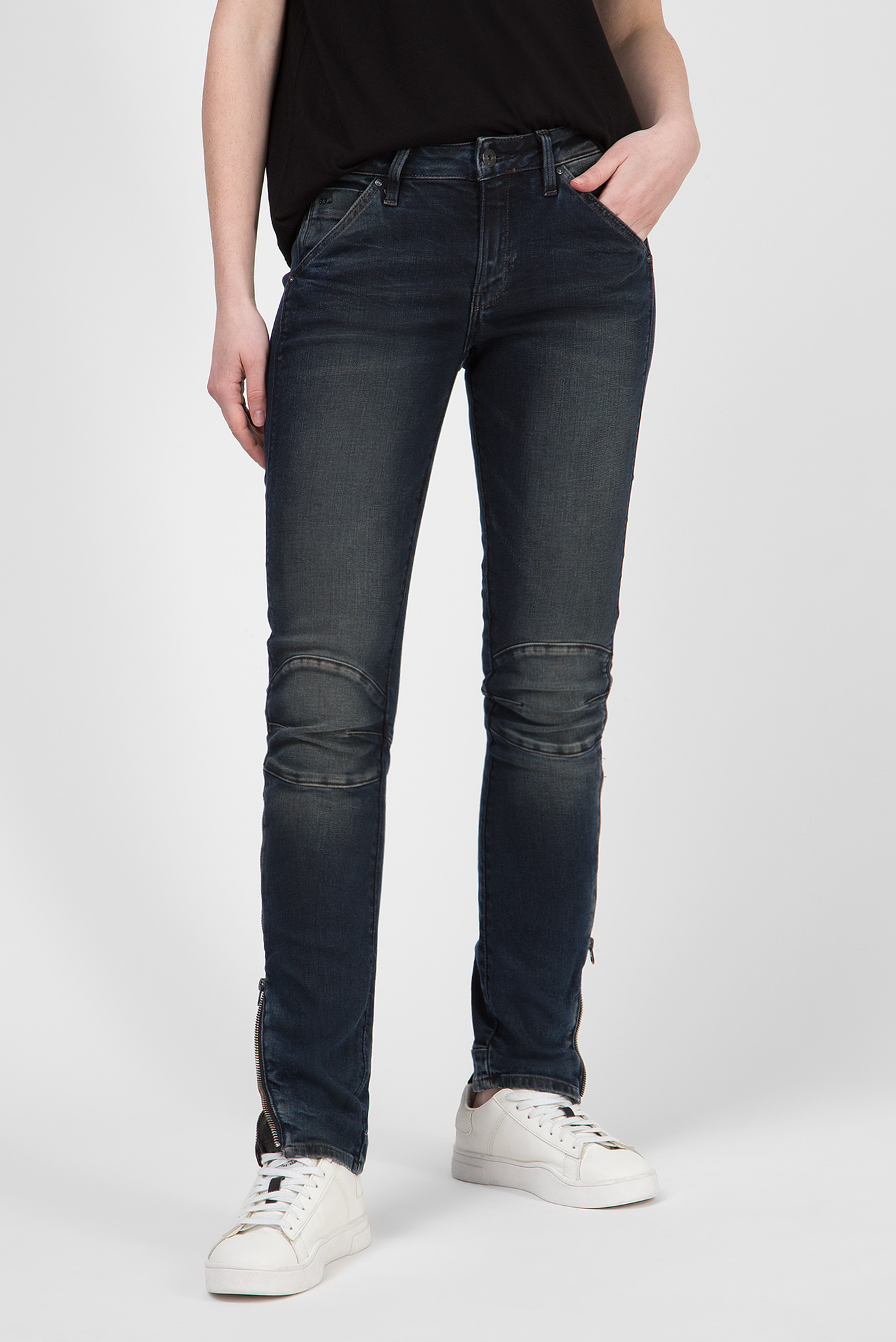 Женские темно-синие джинсы 5622 Zipper Mid Skinny 1