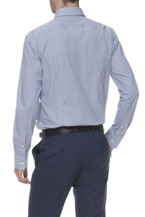 Мужская голубая рубашка Slim Fit Travel