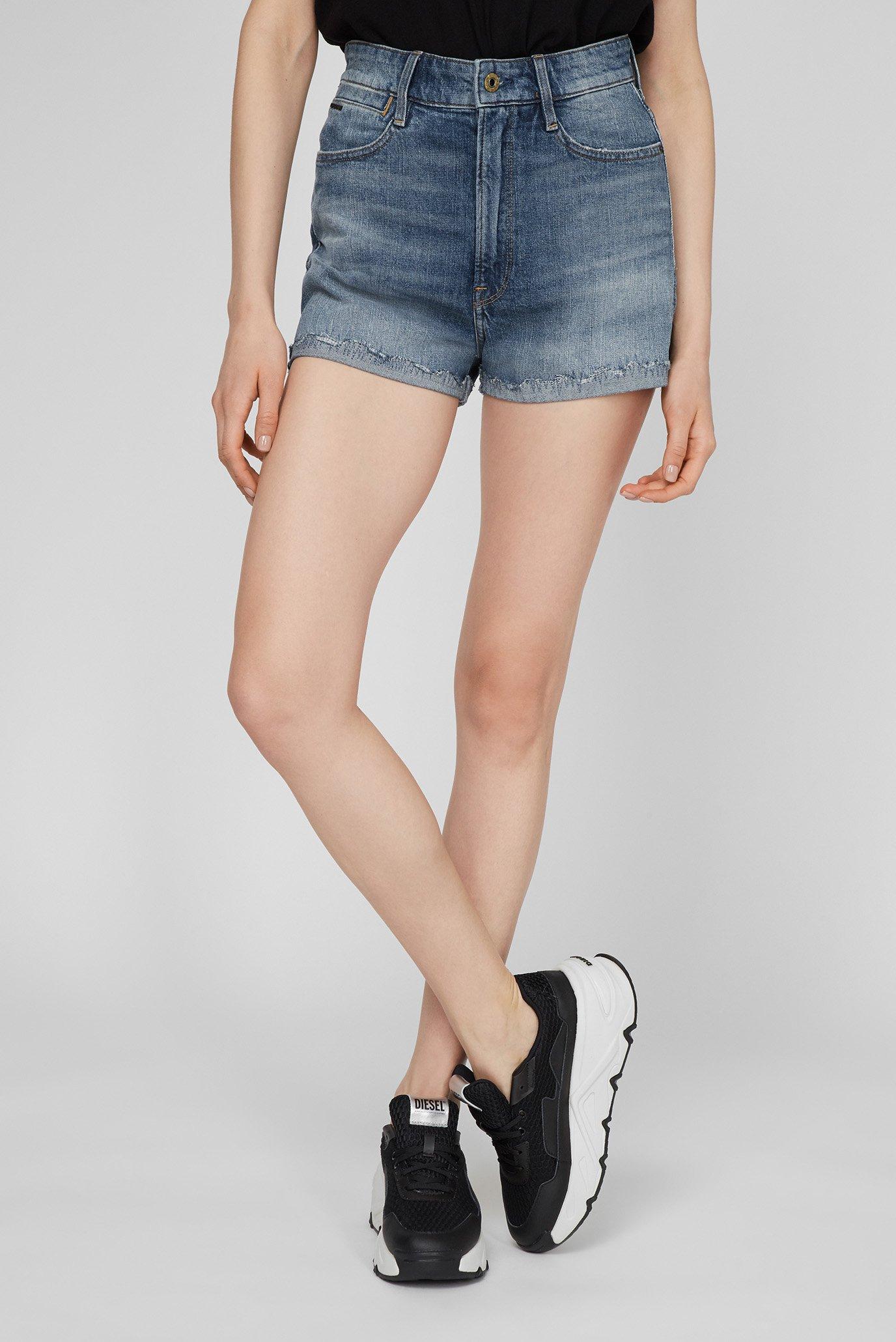 Женские синие джинсовые шорты Tedie Ultra High 1