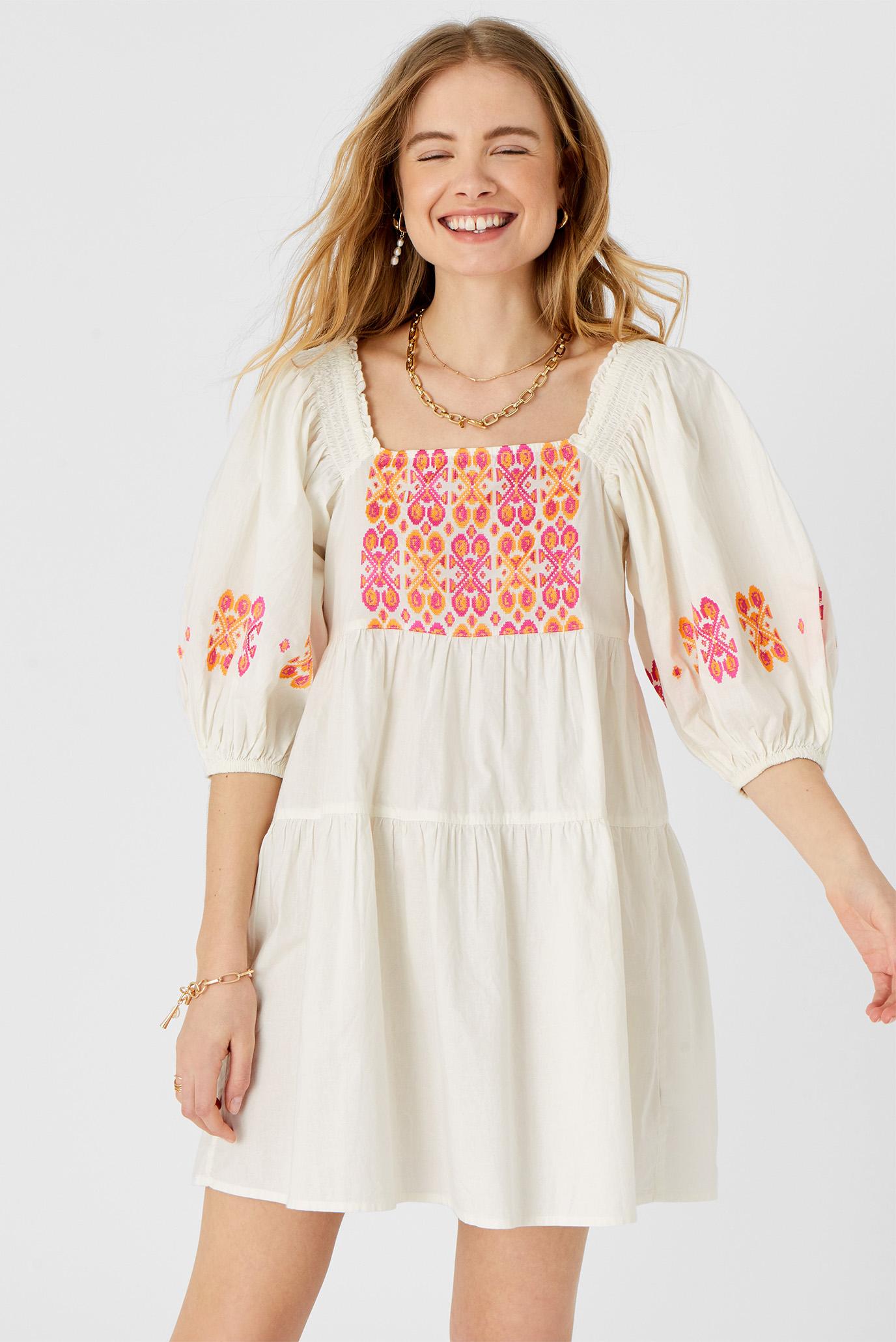 Жіноча біла сукня EMBROIDERED DRESS 1