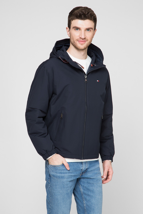 Мужская темно-синяя куртка HOODED BLOUSON