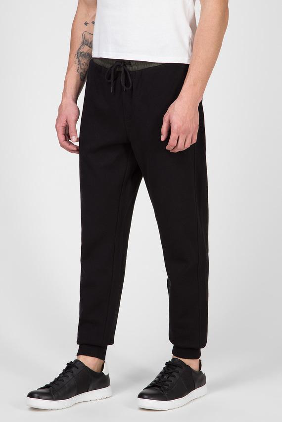 Мужские черные спортивные брюки MIX MEDIA INTERLOCK
