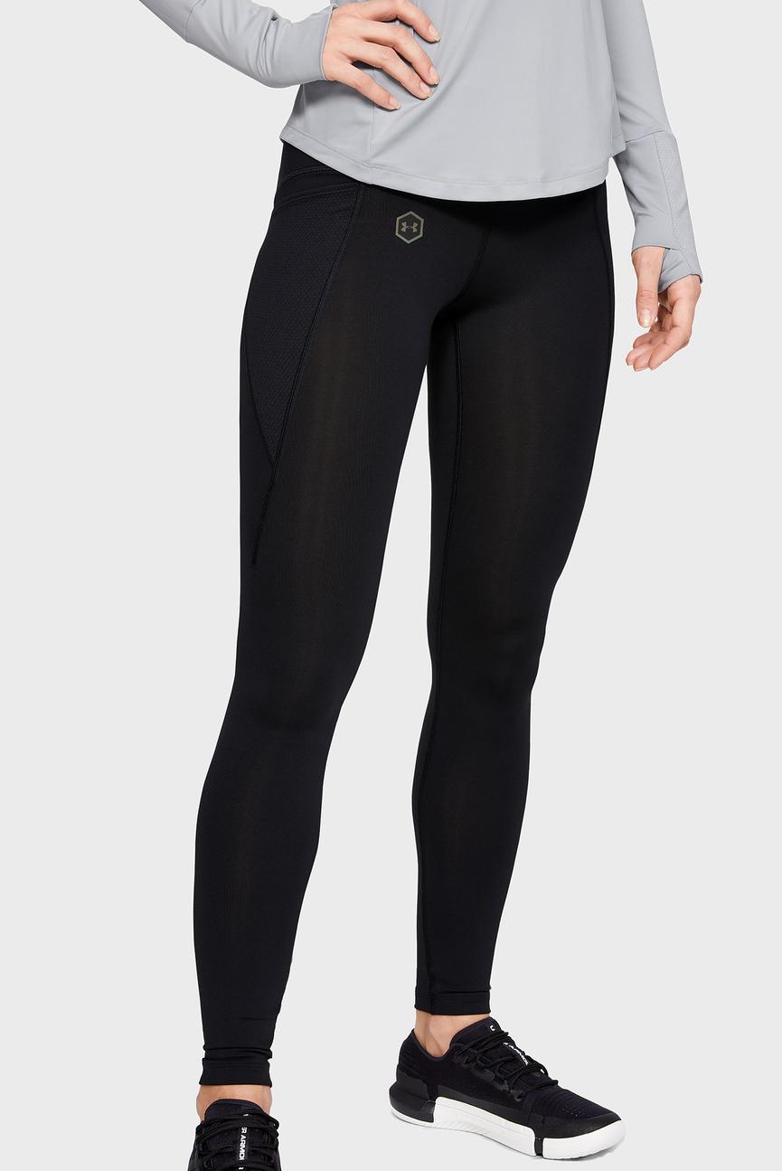 Женские черные леггинсы UA Rush Legging