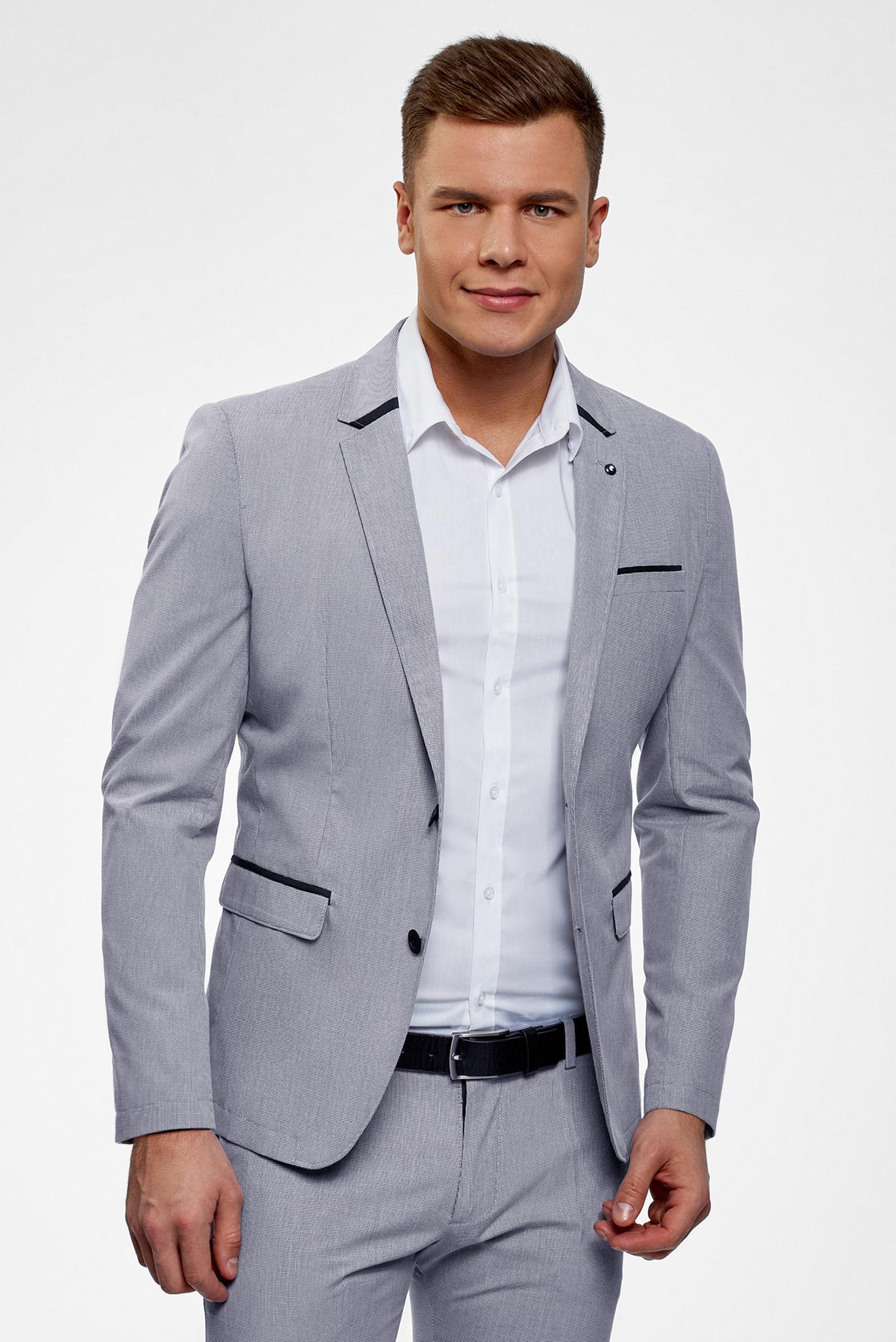 Купить Мужской серый пиджак Oodji Oodji 2L420224M/48093N/7910C – Киев, Украина. Цены в интернет магазине MD Fashion