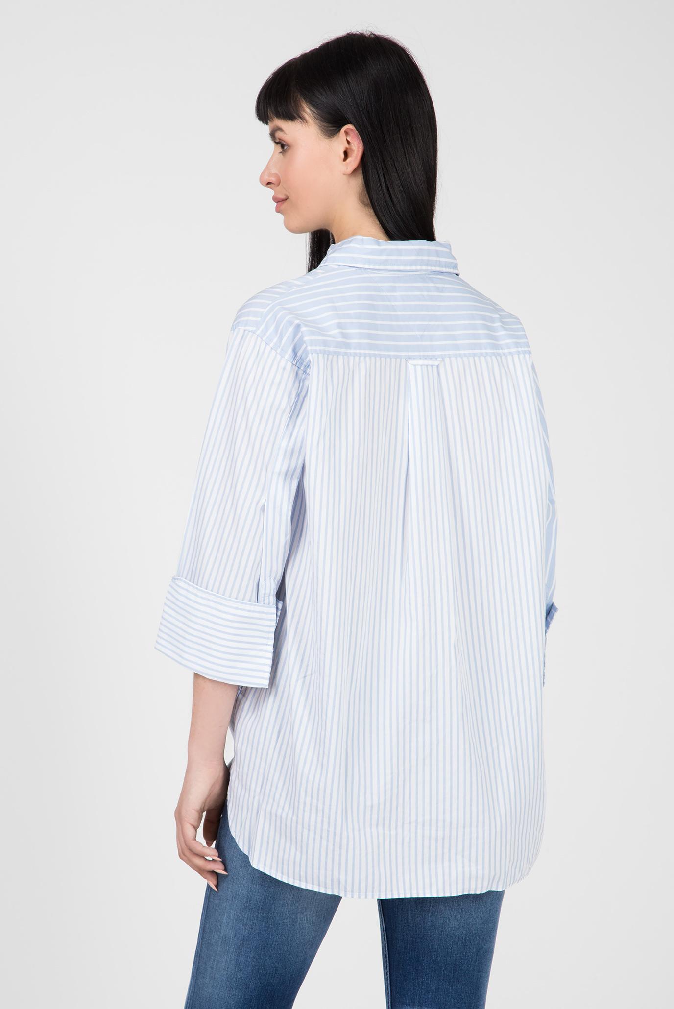 Женская голубая рубашка в полоску TJW CONTRAST STRIPE Tommy Hilfiger