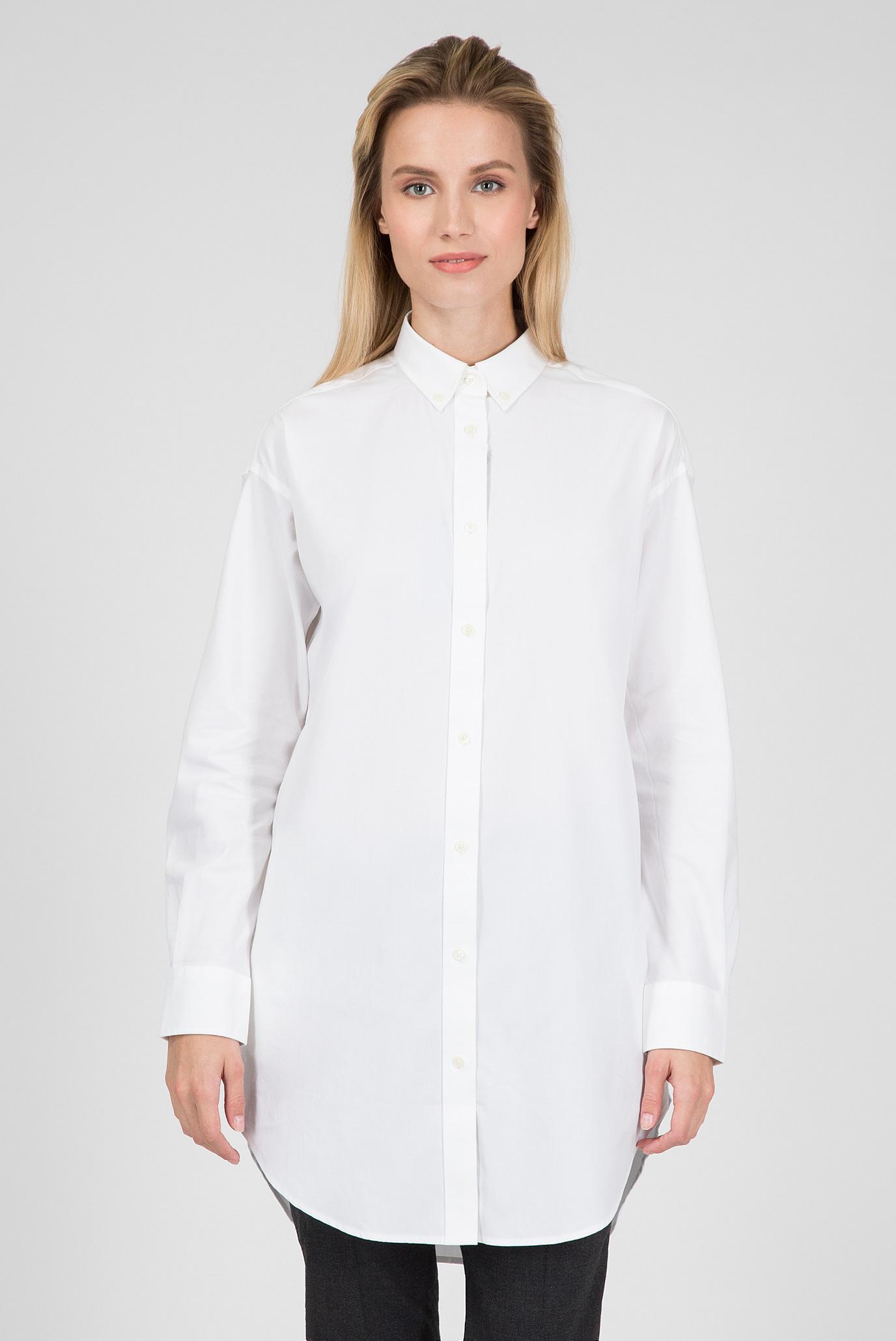 Купить Женская белая удлиненная рубашка Gant Gant 4300020 – Киев, Украина. Цены в интернет магазине MD Fashion