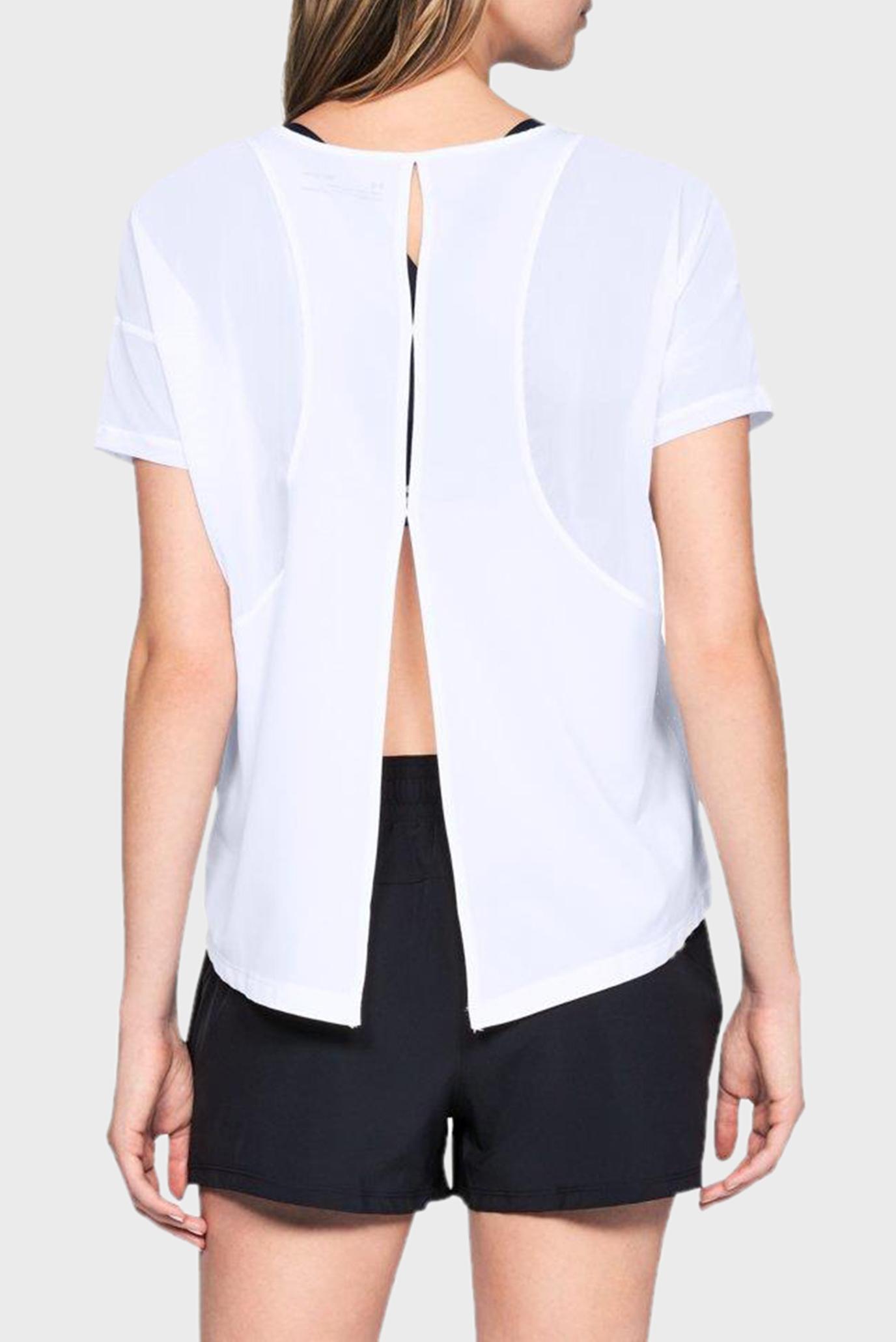 Купить Женская белая футболка Perpetual Woven Short Sleeve Under Armour Under Armour 1318055-100 – Киев, Украина. Цены в интернет магазине MD Fashion