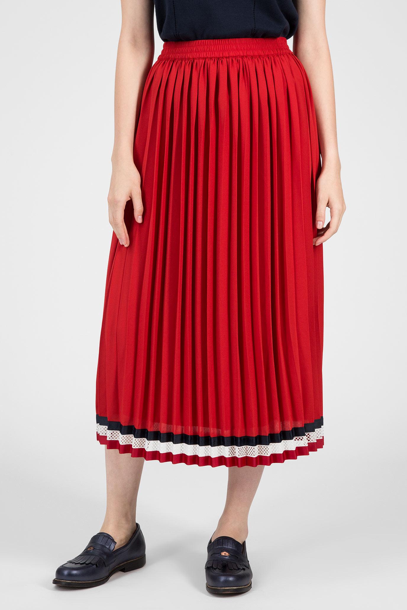 a0dbd46b40f Купить Женская красная юбка-плиссе Tommy Hilfiger Tommy Hilfiger WW0WW22151  – Киев