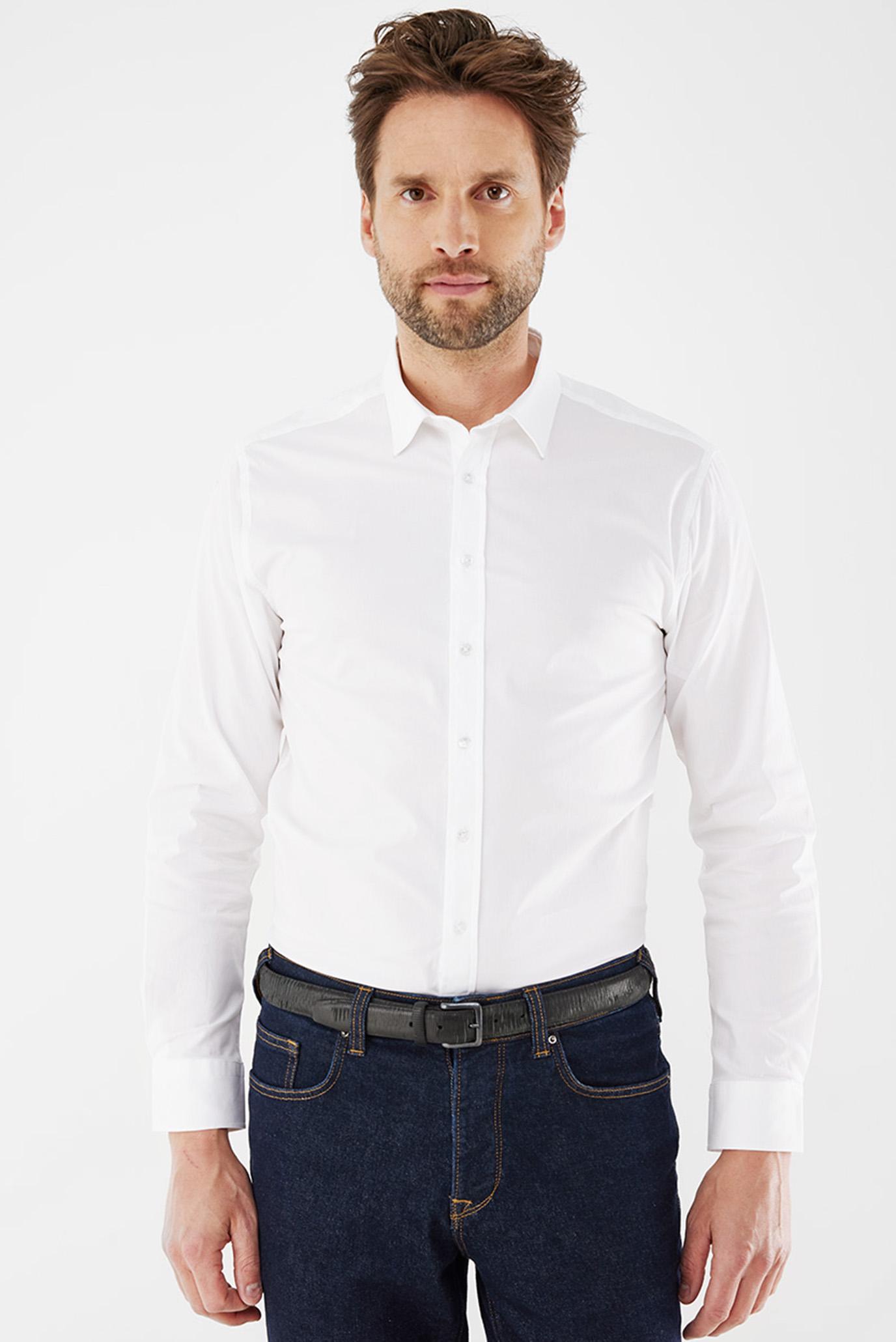 Мужская белая рубашка 1