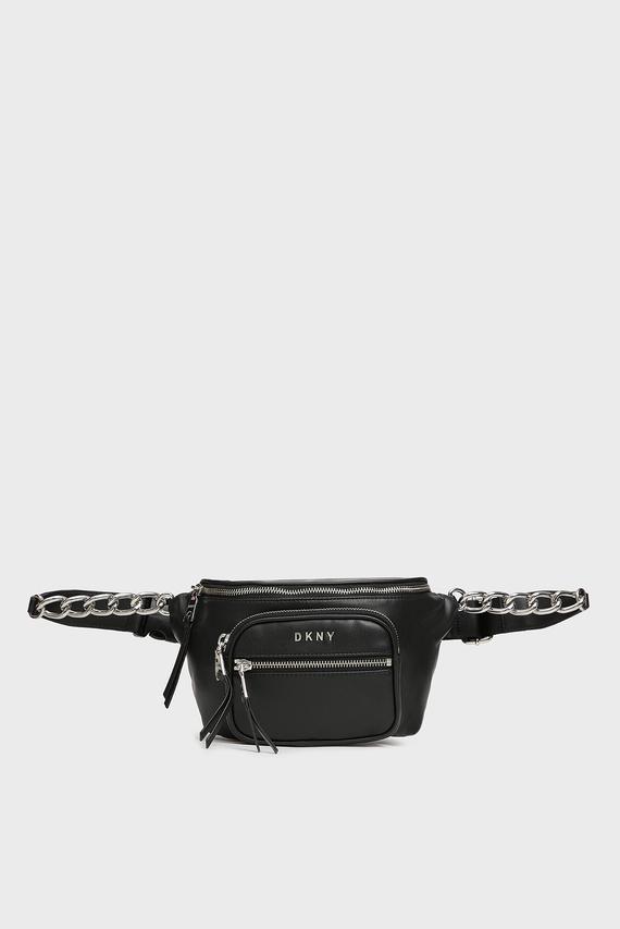 Женская черная поясная сумка Abby
