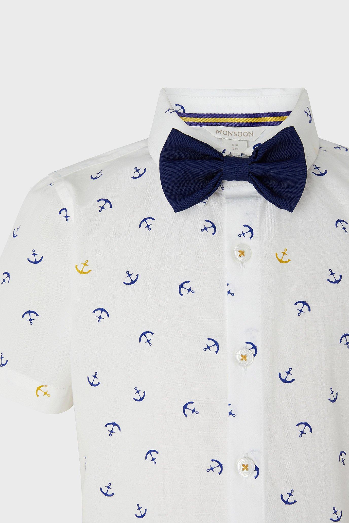 Купить Детская белая рубашка Andrew Anchor  Monsoon Children Monsoon Children 616697 – Киев, Украина. Цены в интернет магазине MD Fashion