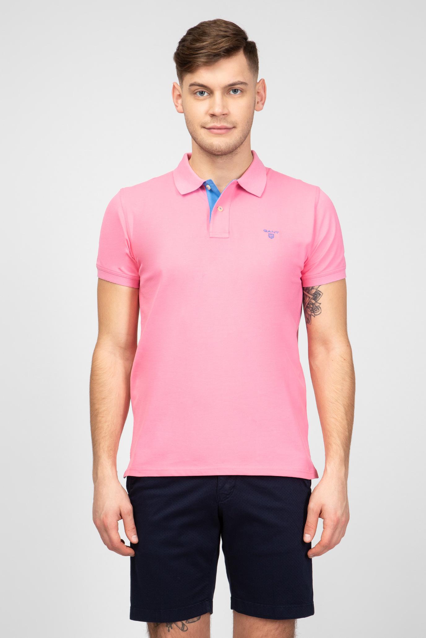 af68188f70040 Купить Мужское розовое поло Gant Gant 252105 – Киев, Украина. Цены в  интернет магазине MD Fashion