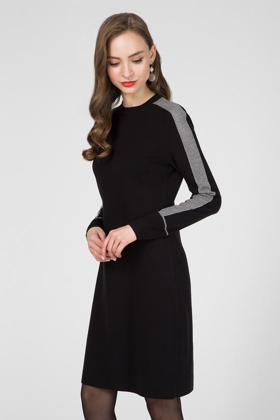 Женское черное платье LS KNITTED