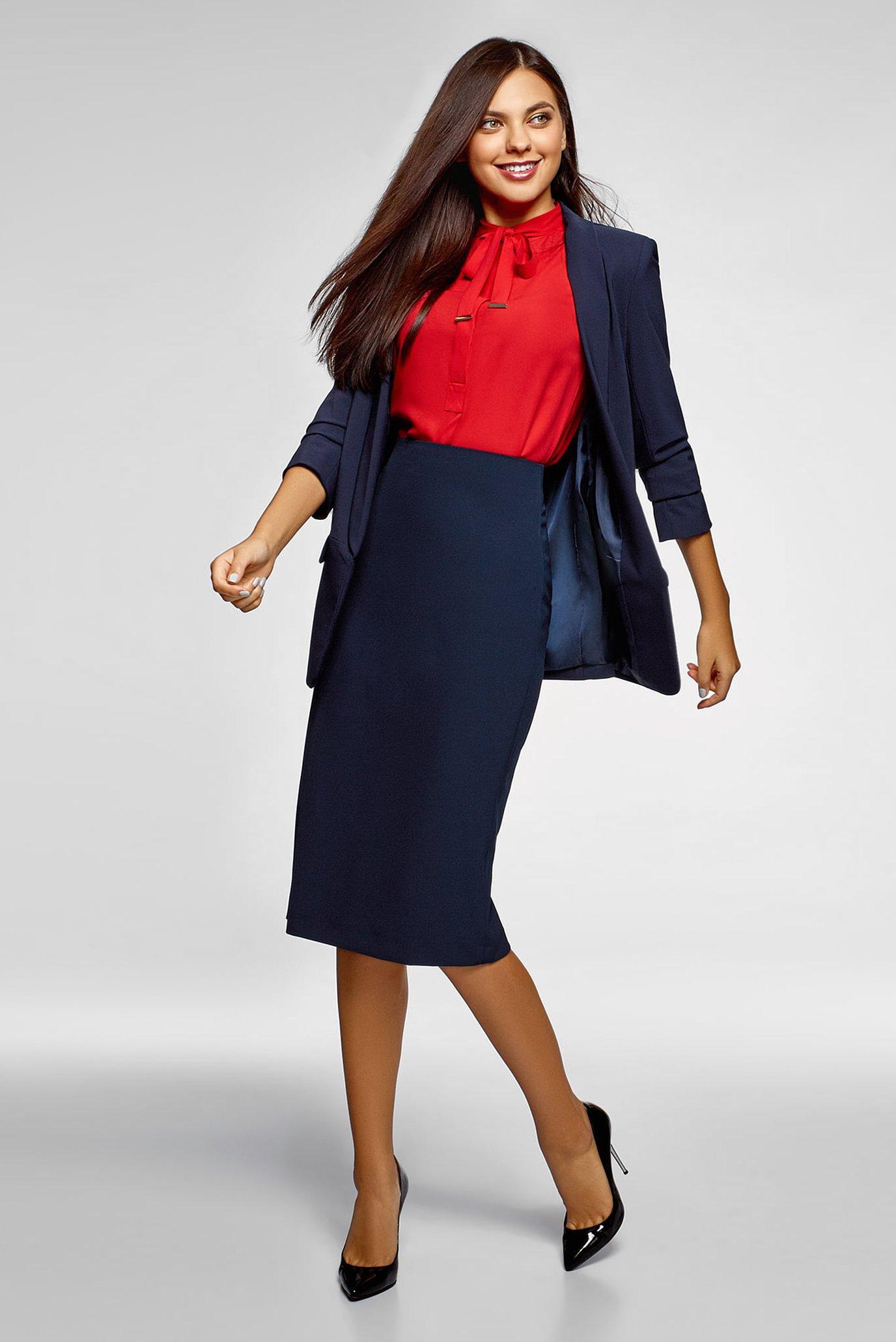 Женская темно-синяя юбка Oodji