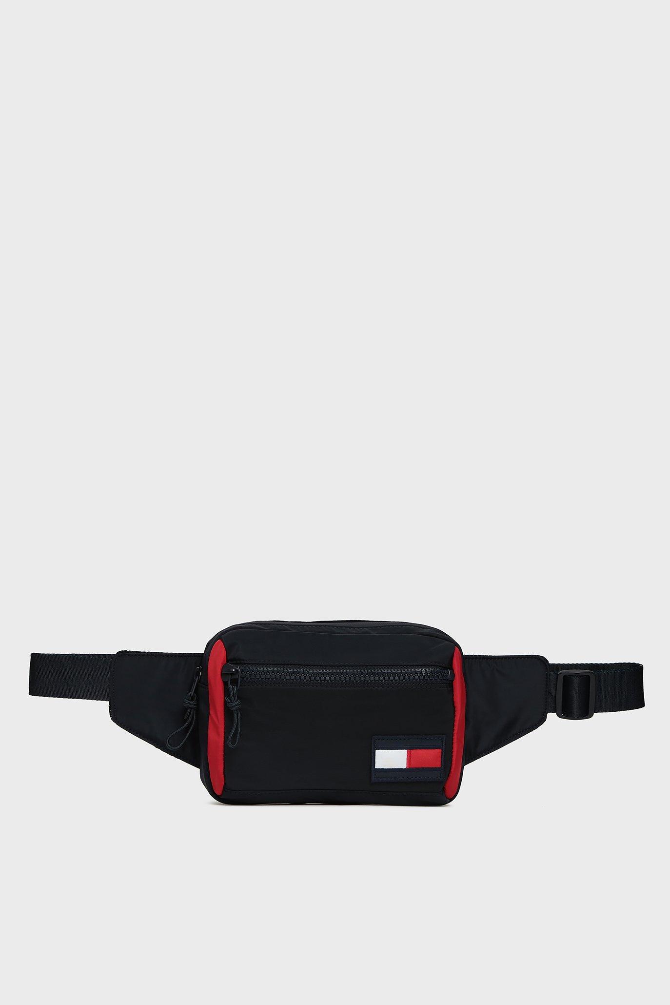 Мужская темно-синяя поясная сумка Tommy Hilfiger