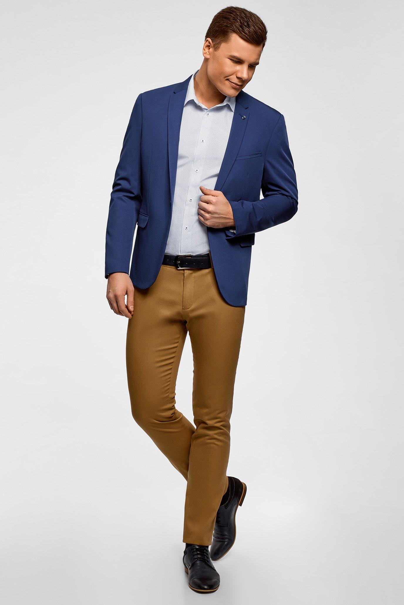 Купить Мужской синий пиджак Oodji Oodji 2B410021M/47747N/7500N – Киев, Украина. Цены в интернет магазине MD Fashion