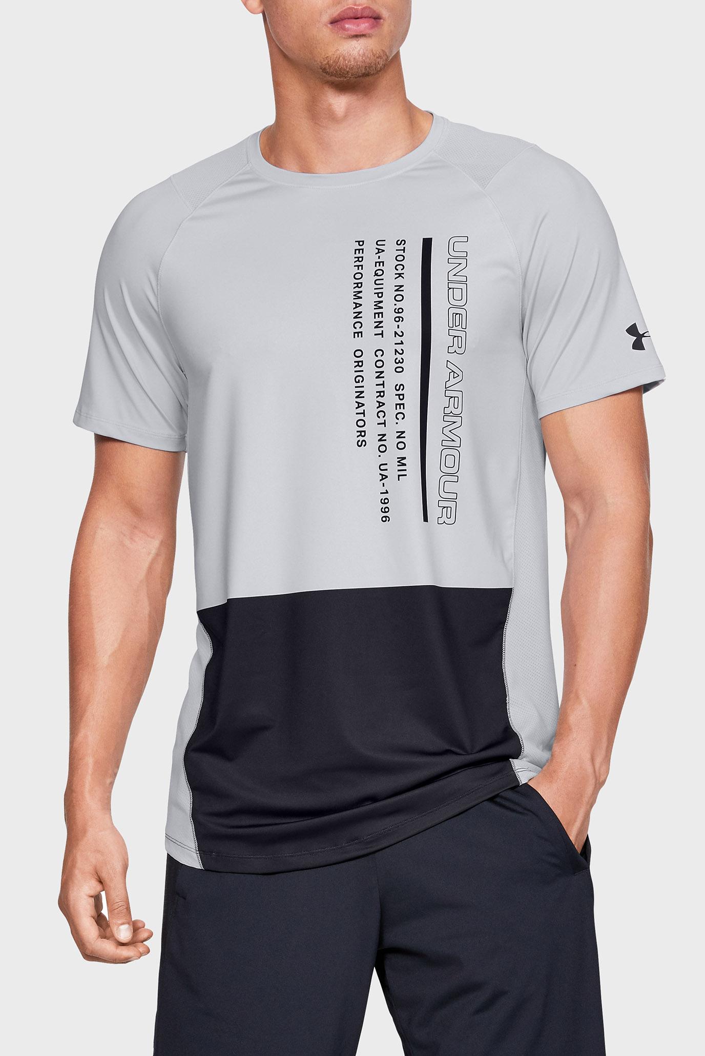Чоловіча сіра футболка MK1 SS Colorblock 1