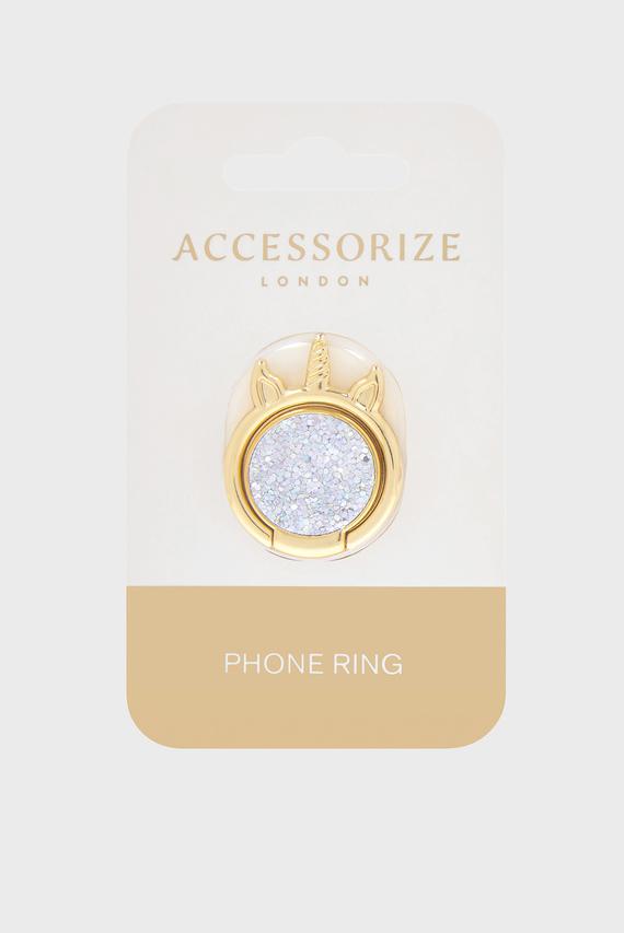 Золотистое кольцо для телефона Unicorn Phone Ring