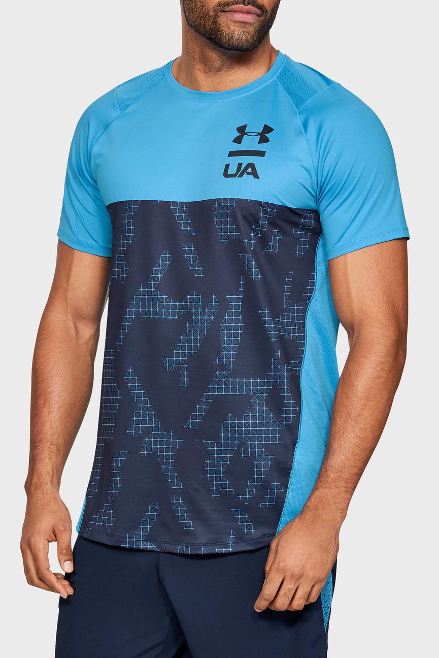 Мужская голубая футболка MK1 SS Colorblock