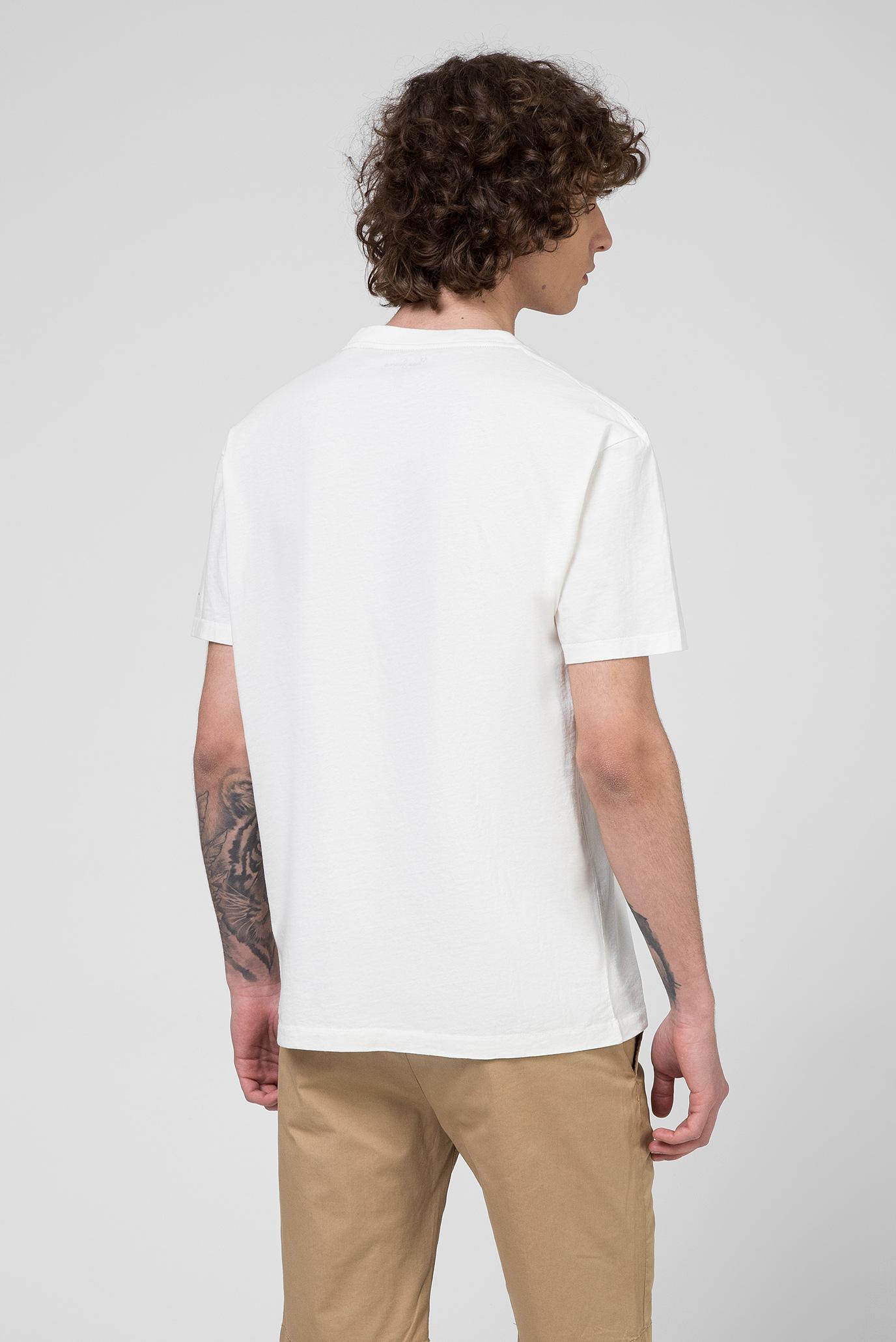 Мужская белая футболка с принтом PHILIPE Pepe Jeans
