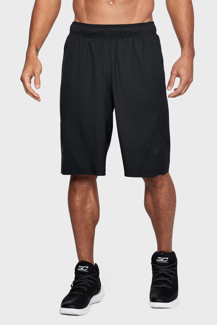 Мужские черные шорты UA Curry 4 11in Short