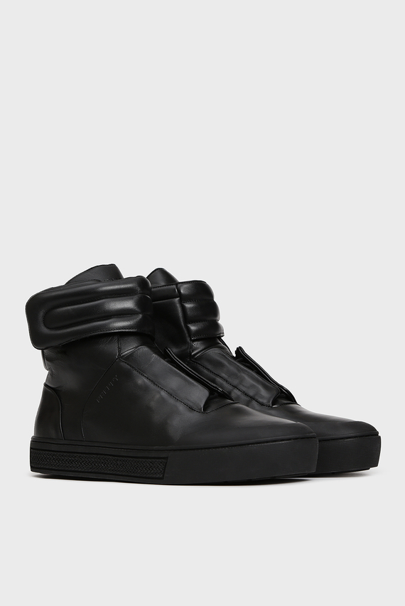Мужские черные кожаные хайтопы Pacienca