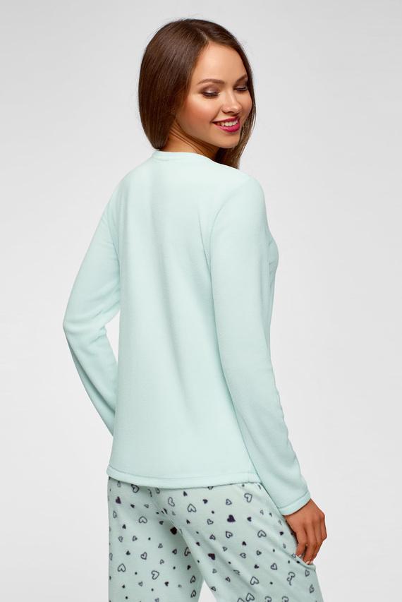 Женский мятный пижамный джемпер
