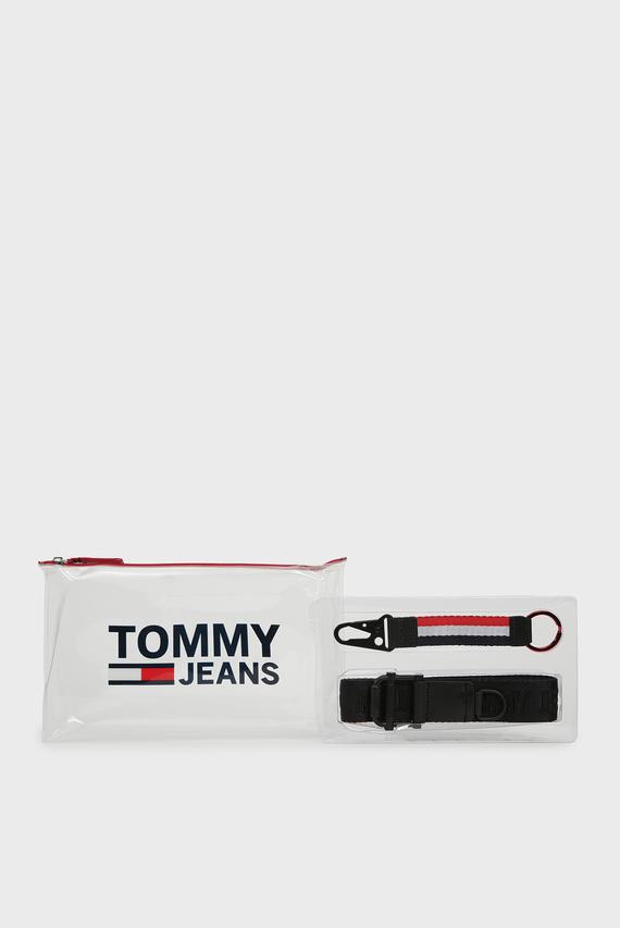 Мужской комплект аксессуаров TJM REV BELT GIFTBOX (ремень, брелок, несессер)