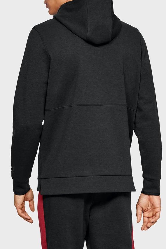 Мужское черное худи Athlete Recovery Fleece Graphic