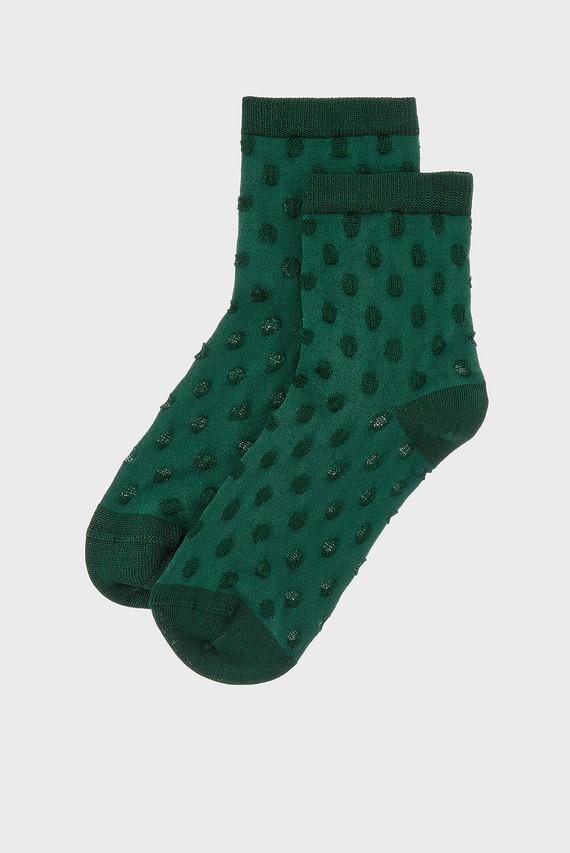 Женские зеленые носки SLINKY EMERALD SPOT