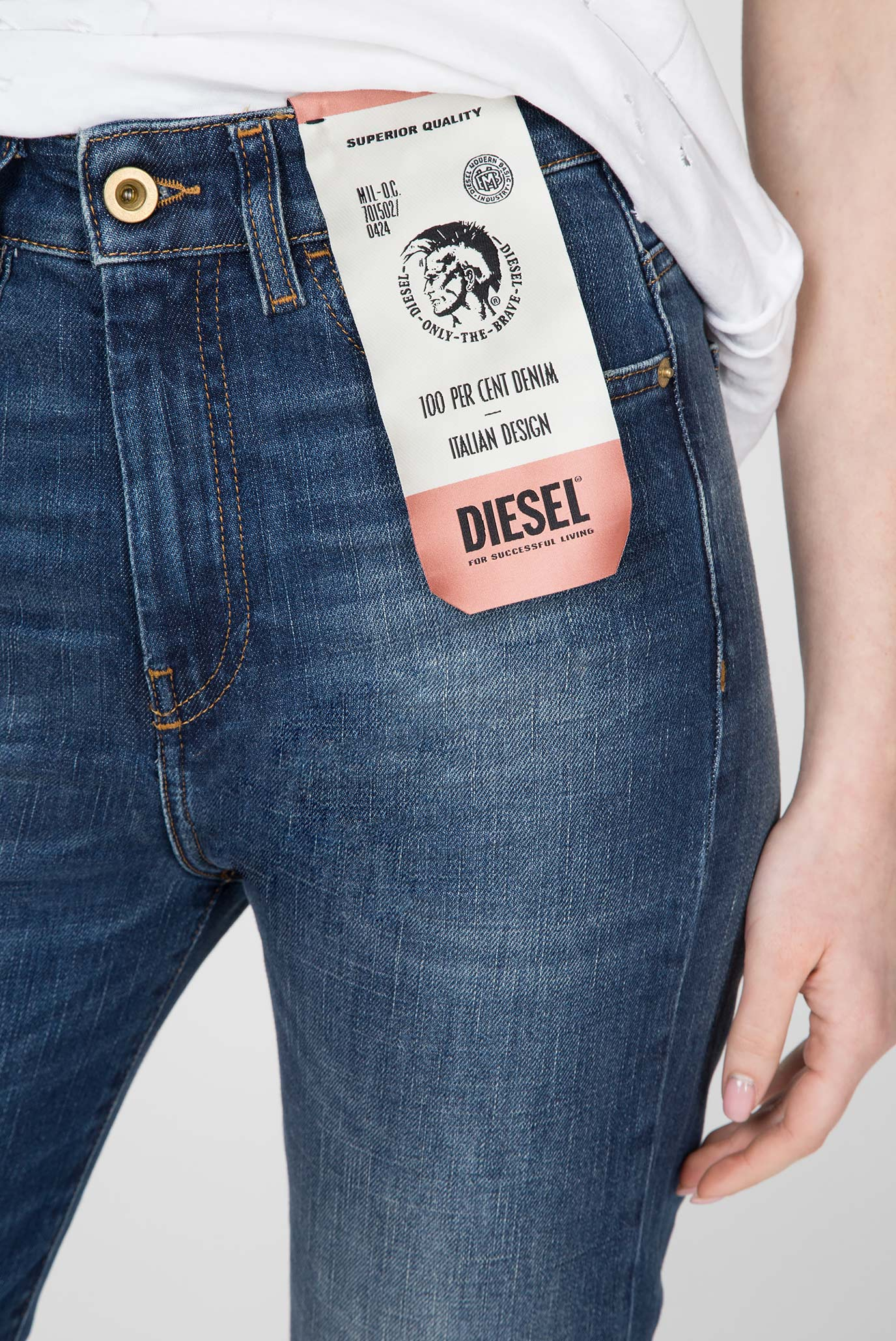 Купить Женские синие джинсы D-EISELLЕ Diesel Diesel 00SMNI 089AR – Киев, Украина. Цены в интернет магазине MD Fashion