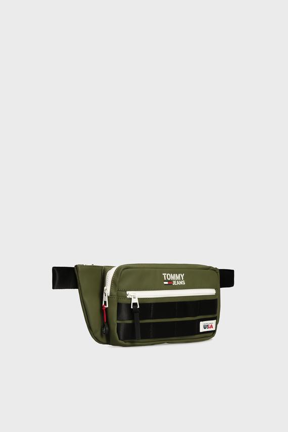 Мужская зеленая поясная сумка TJM CASUAL