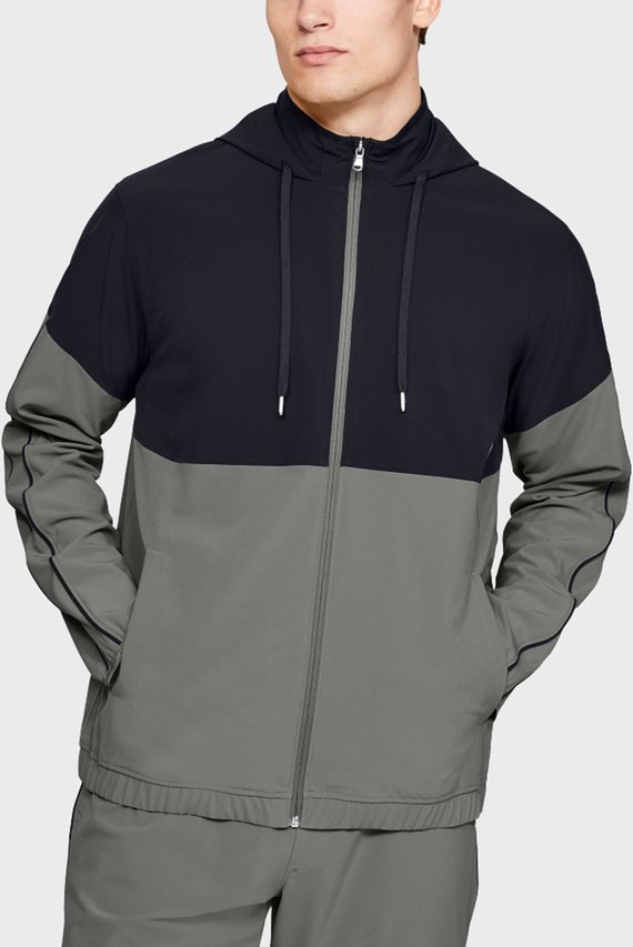 Мужская серая ветровка Athlete Recovery Woven Warm Up Top