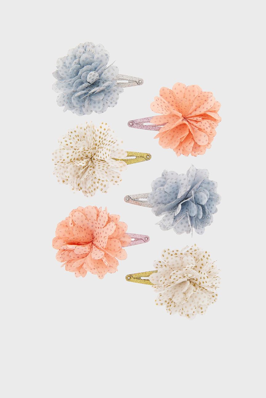 Детские заколки Shimmer Pom Click (6 шт)