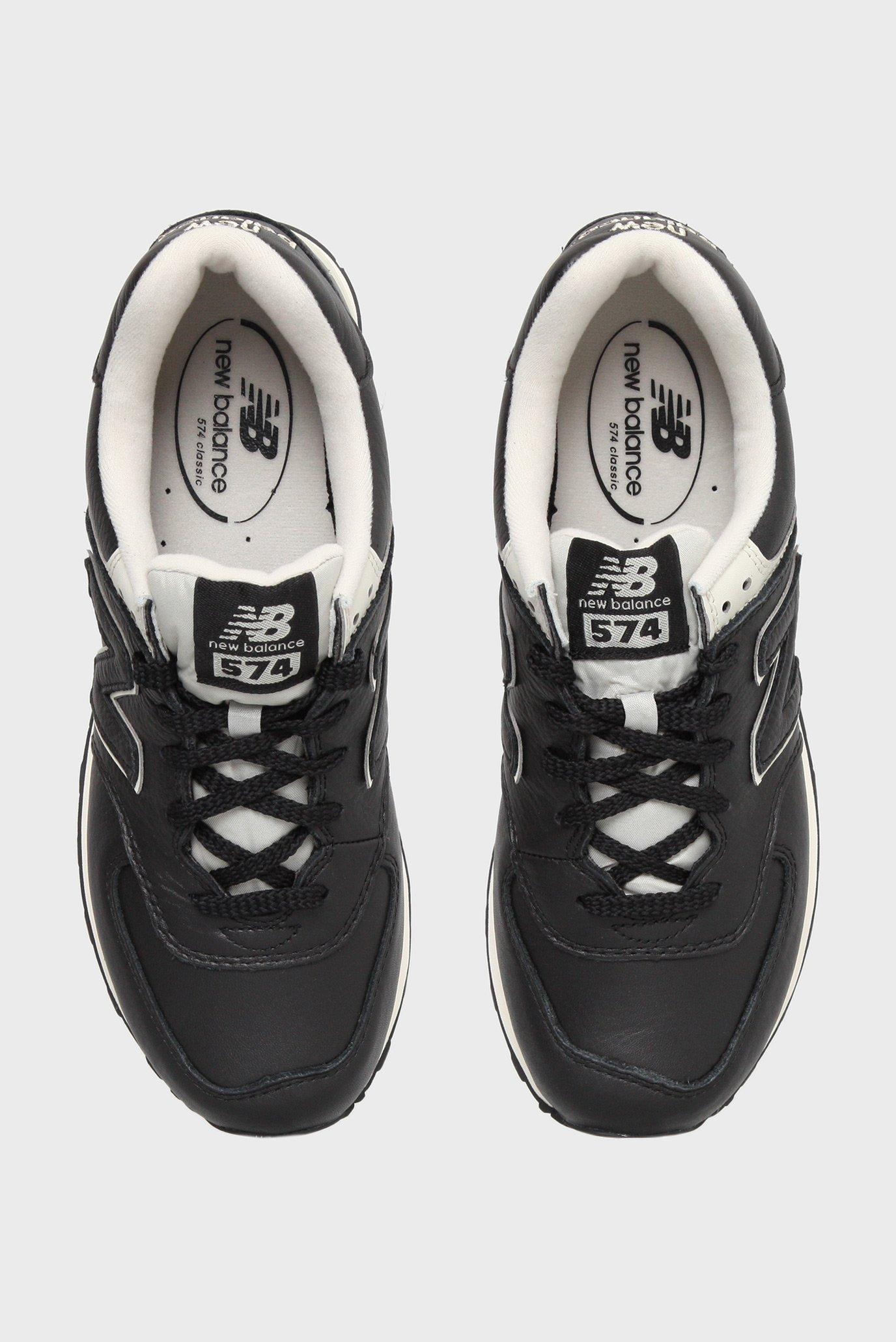 Купить Мужские черные кожаные кроссовки 574 New Balance New Balance  ML574LUC – Киев, Украина. Цены в интернет ... 1356c9378d7