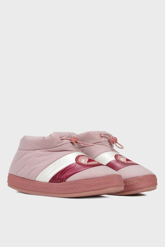 Женские розовые домашние тапочки  TOMMY WOMENS
