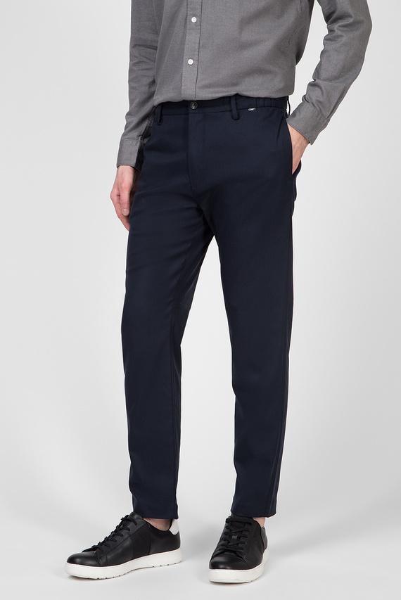 Мужские темно-синие брюки TAPERED ELASTIC TWILL
