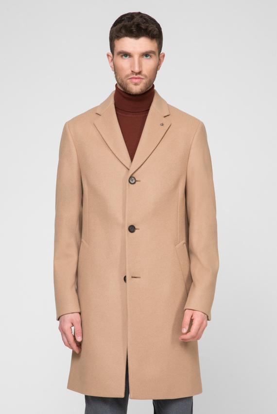 Мужское бежевое шерстяное пальто CASHMERE WOOL CROMBIE