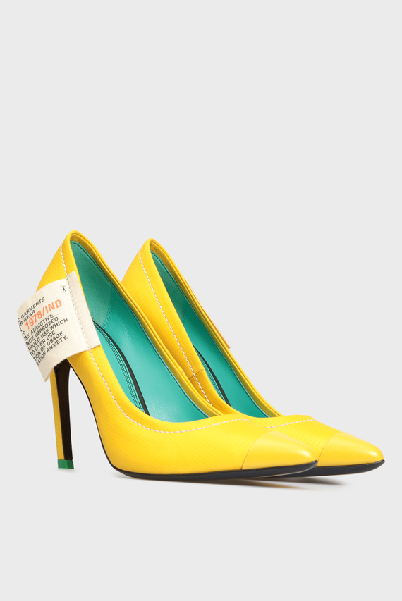 Женские желтые лодочки SLANTY