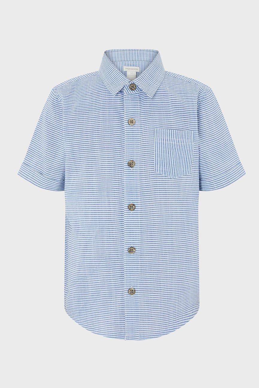 Детская голубая рубашка Stan