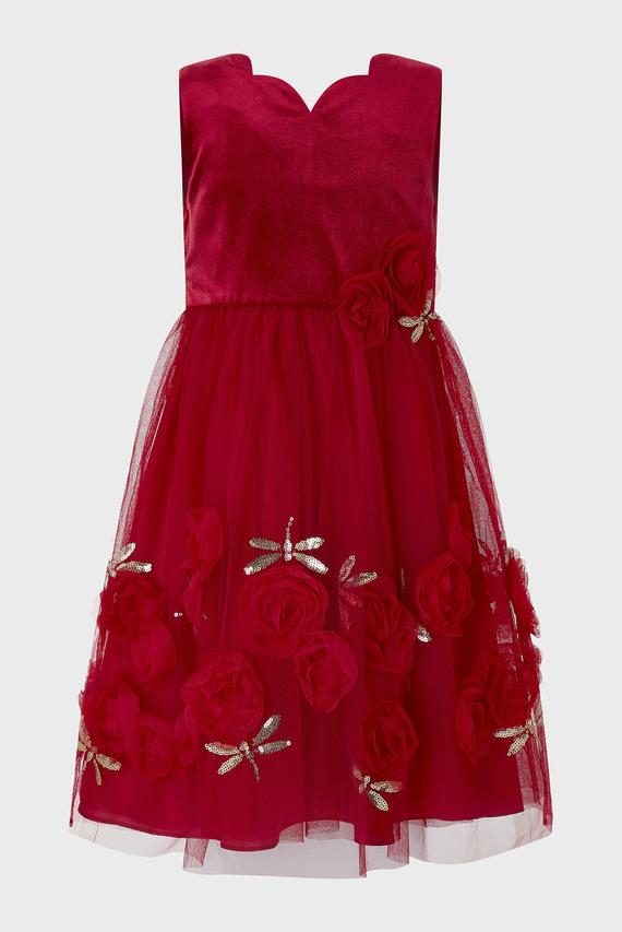 Детское красное платье RASHIMA VELVET DRAGO