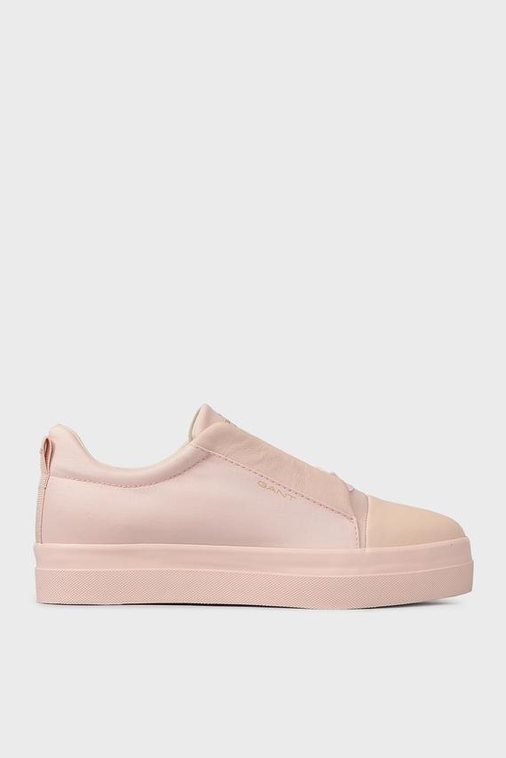 Женские светло-розовые сникеры