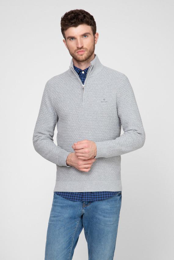 Мужской серый свитер SIGNATURE WEAVE