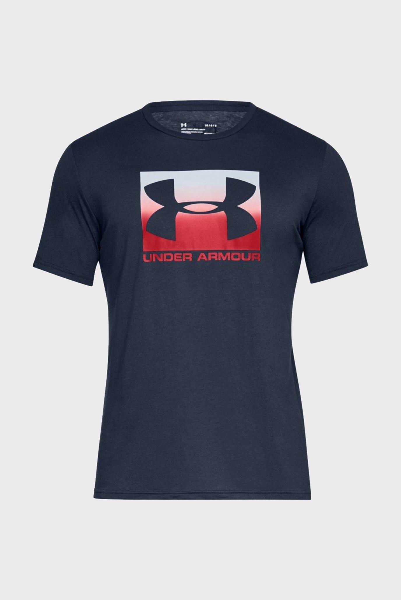 Купить Мужская синяя футболка UA Boxed Sportstyle SS Under Armour Under Armour 1329581-408 – Киев, Украина. Цены в интернет магазине MD Fashion