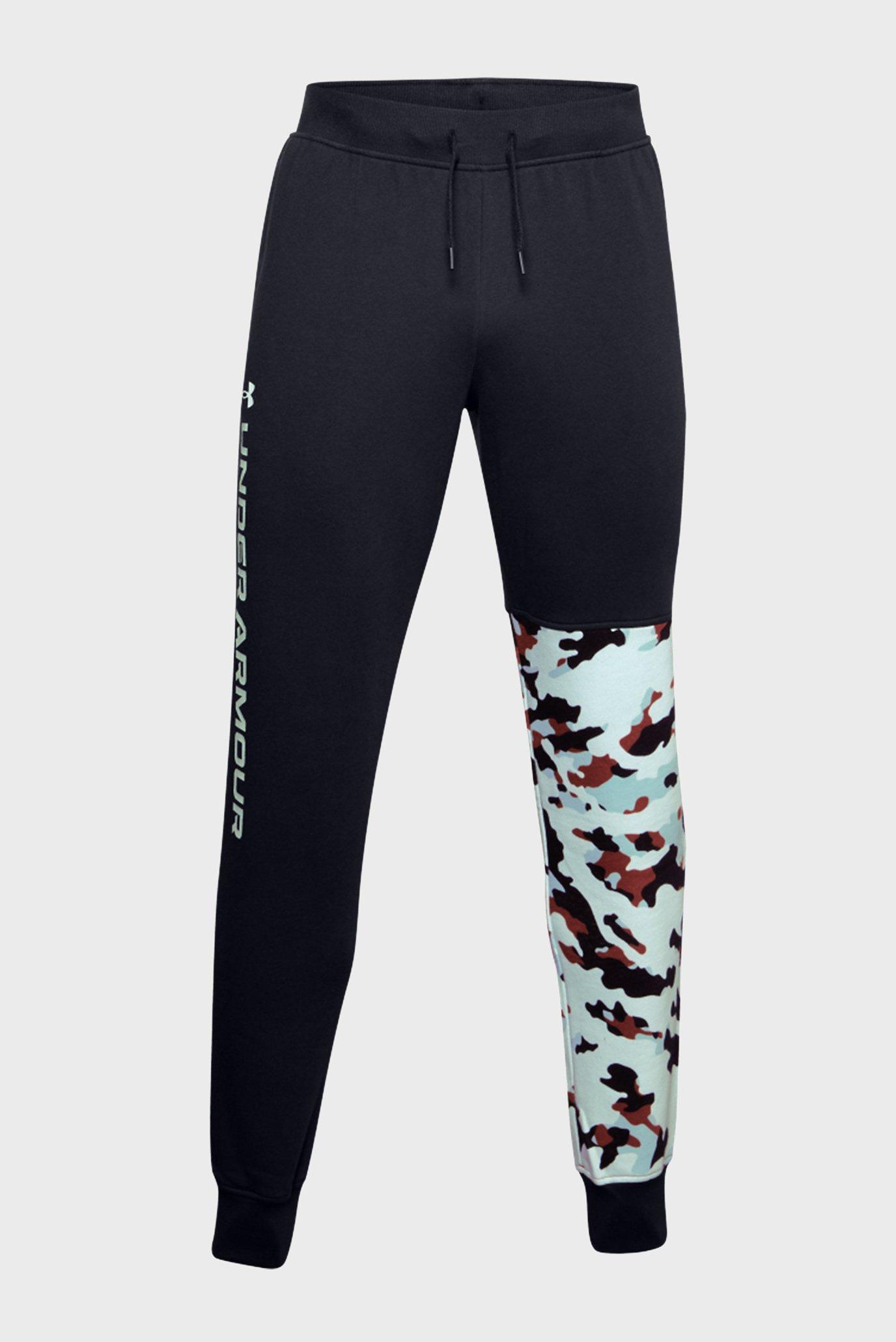 Чоловічі чорні спортивні штани UA Rival Fleece Camo Joggers 1