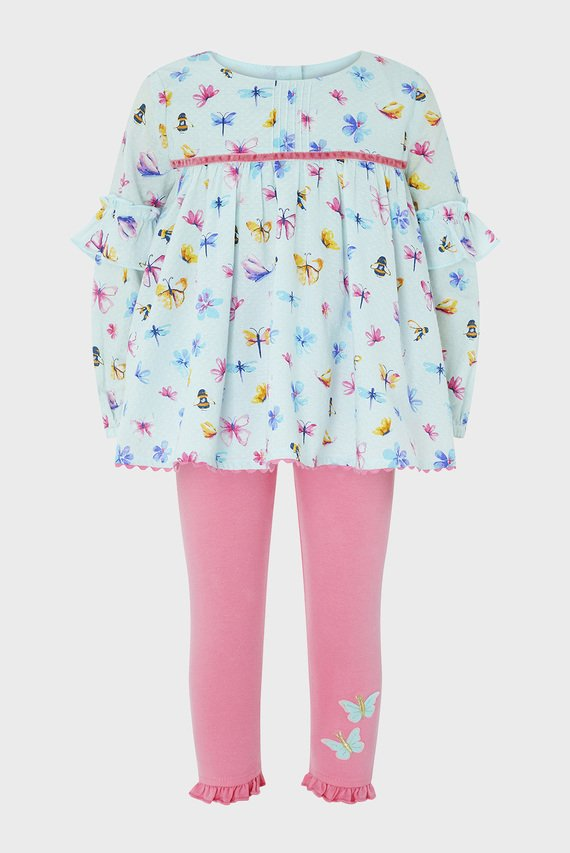 Детский голубой набор одежды (блуза, леггинсы) BABY CICELY SET