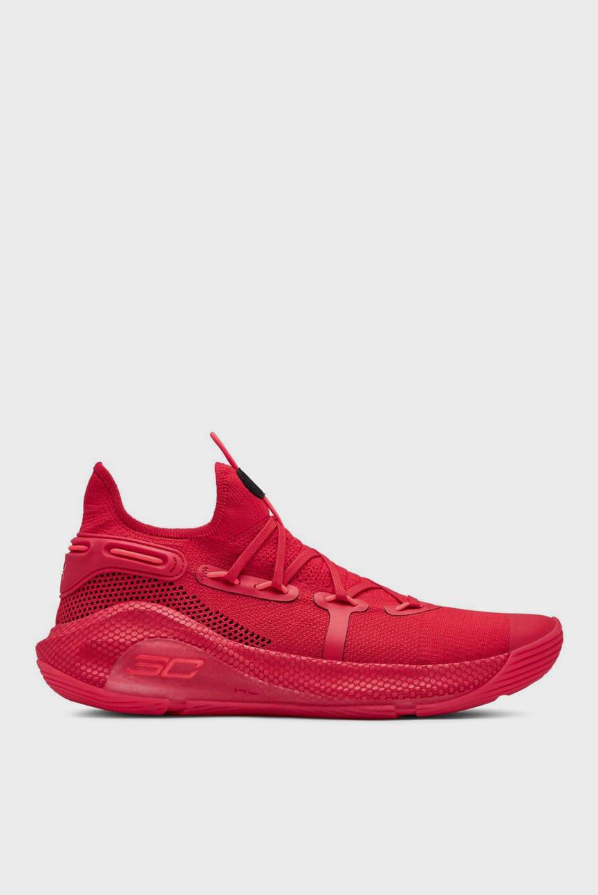 Мужские красные кроссовки UA Curry 6