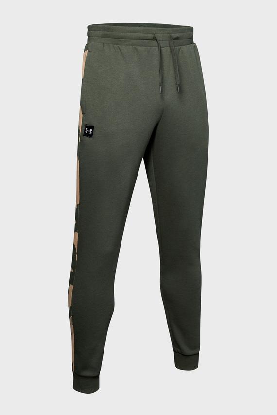 Мужские зеленые спортивные брюки RIVAL FLEECE PRINTED JOGGER-GRN